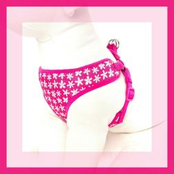 Top Paw Hot Pink w/White Daisies Comfort Dog Harness XS