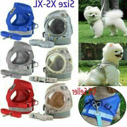 Hot Small Dog Pet Puppy Harness And Leash Set Breathable Mes
