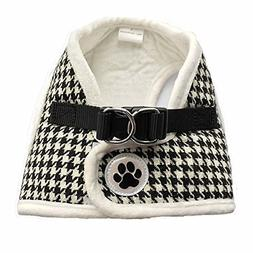 Lanyar Houndstooth Fleece Padded Winter Harness Vest for Pet