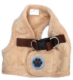 Lanyar Lovely Heart Fleece Padded Winter Harness Vest for Pe