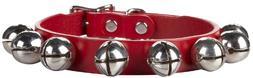 "Auburn Jingle Bell Christmas Collar - Red - 5/8""X14"""