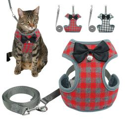 Cat Walking Jacket Harness and Leash Pet Escape Proof Mesh V