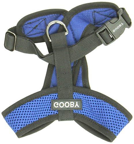 Gooby Harness Blue Medium Synthetic Trimming