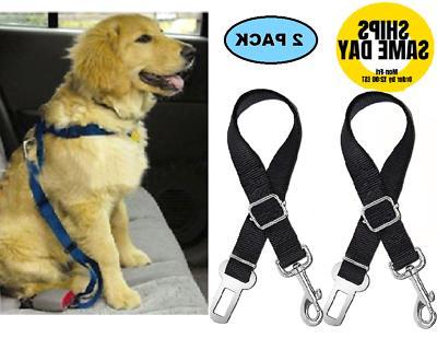 Pet Seat Belt >> 2 Pack Cat Dog Pet Safety Seatbelt For Car Seat Belt Adjustable Harness Lead