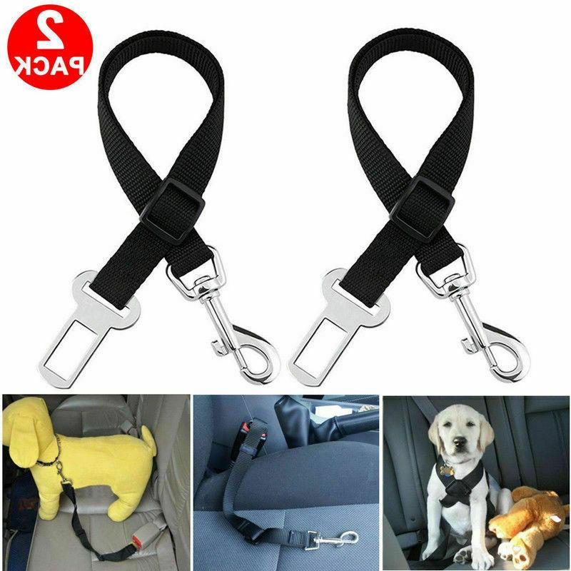 2 Pack Cat Dog Pet Seatbelt Harness