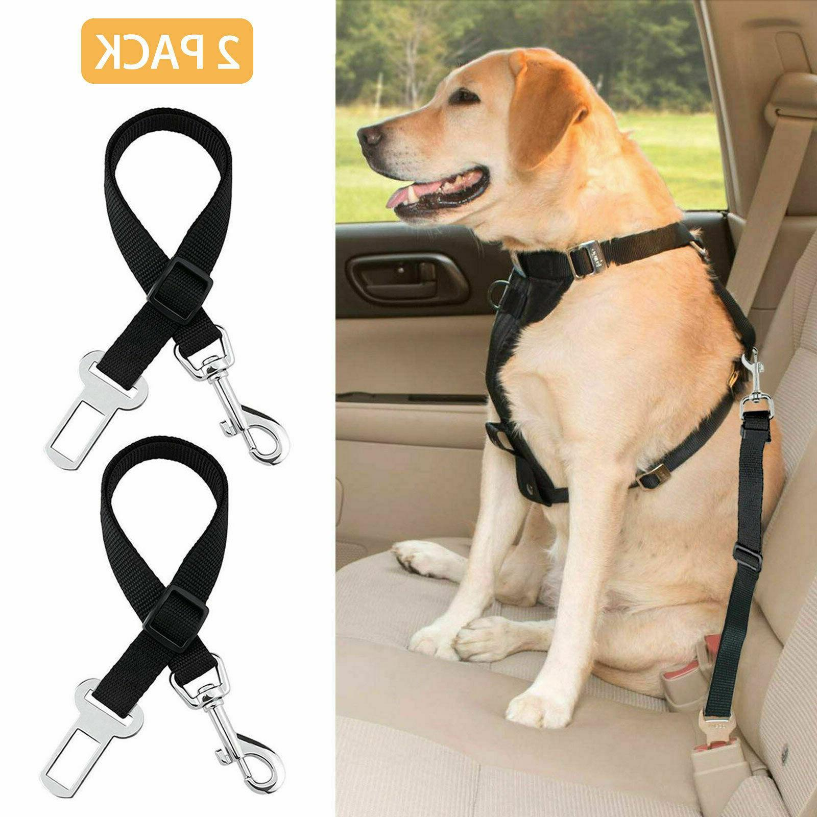 2 pack cat dog pet safety seatbelt