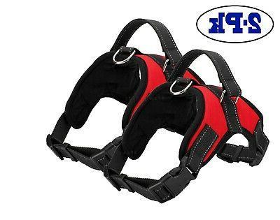 2-PACK Dog Harness Strap Nylon Small No Pull