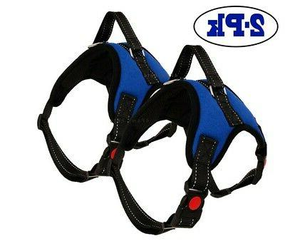 2-PACK Pet Harness Strap Adjustable Nylon Small No Pull