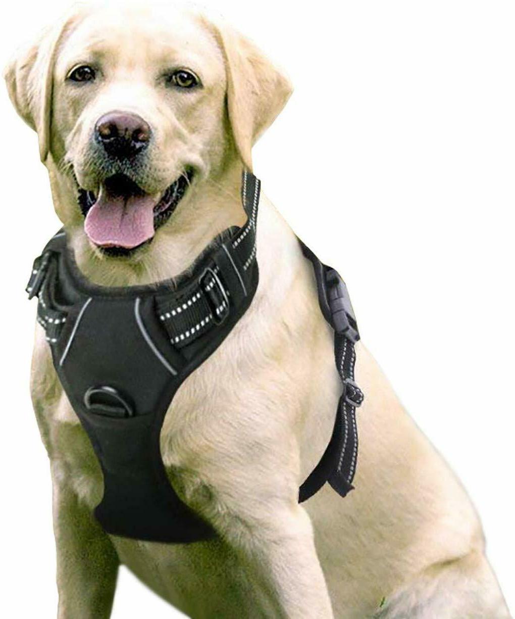 dog harness no pull pet control adjustable