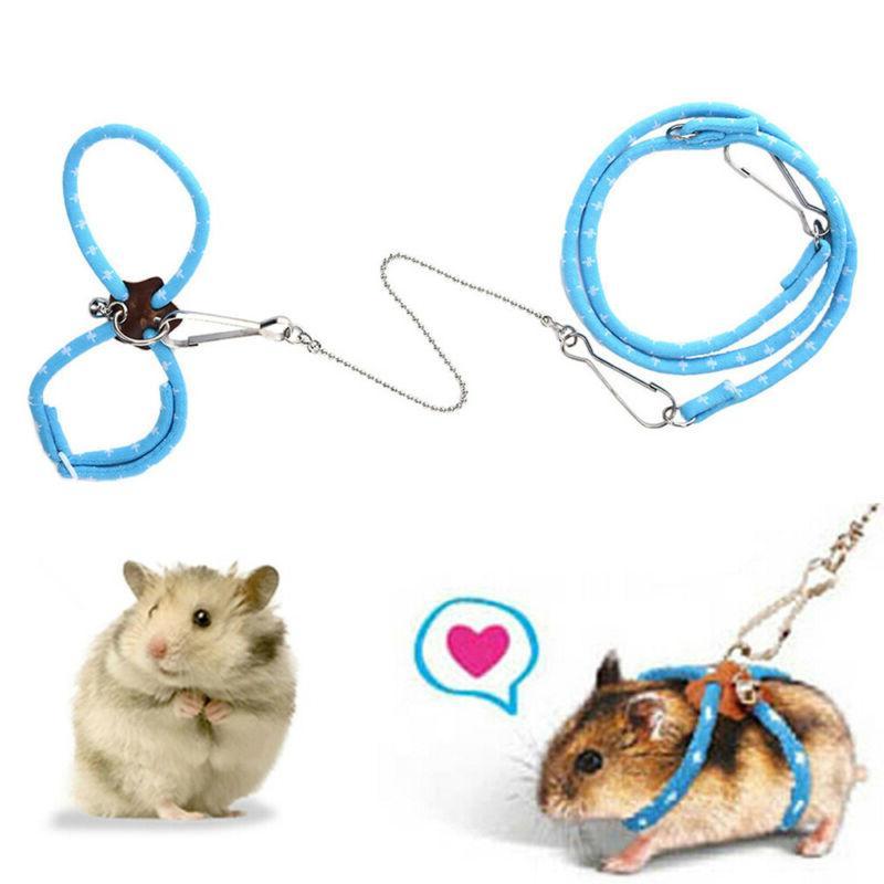Adjustable Hamster Harness Leash Bell Pet Supplies.