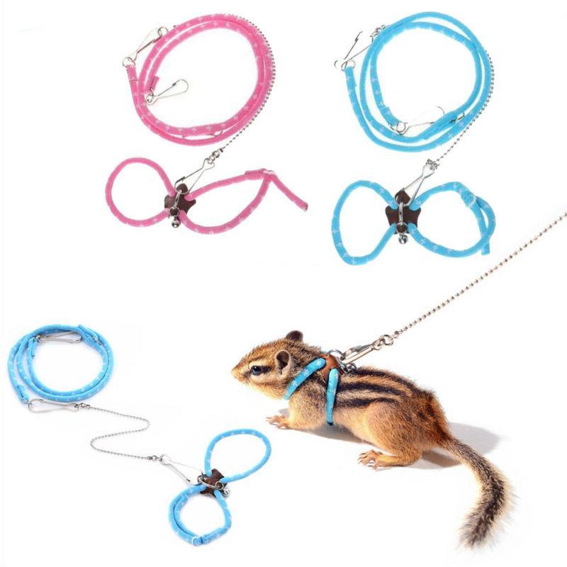 Adjustable Hamster Leash Bell Pet Supplies.