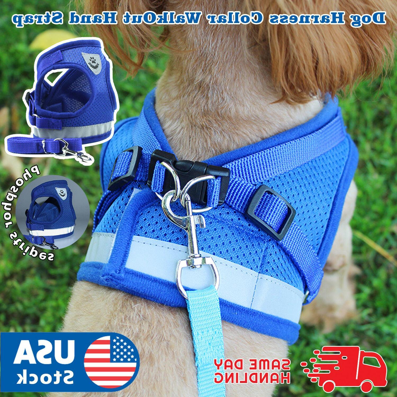 adjustable puppy dog pet vest harness soft