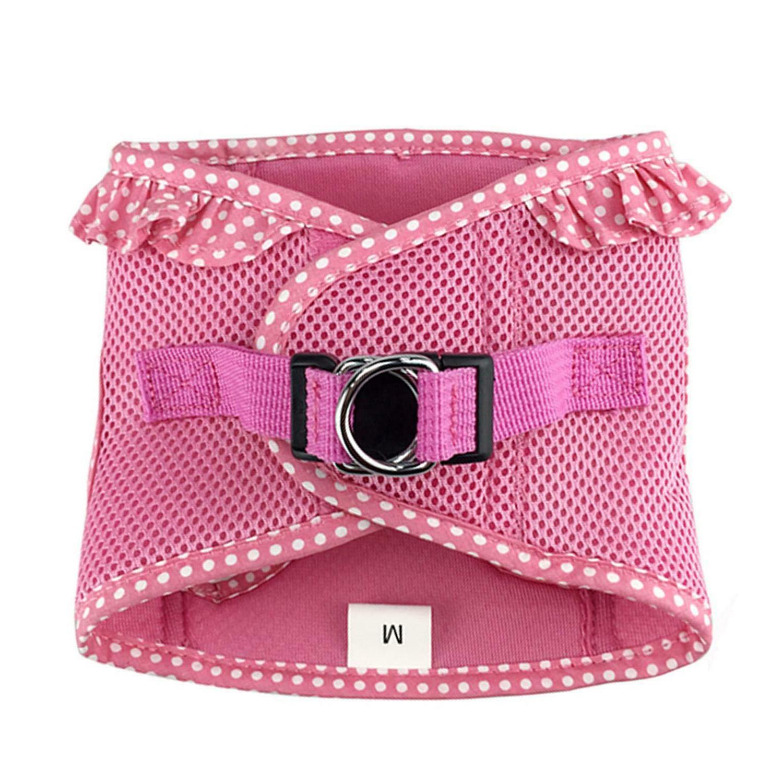 American Choke-Free Harness Polka Dot Teal Pink