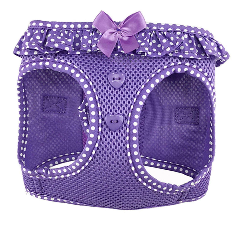 American River Choke-Free Harness Polka - Teal - Purple Pink