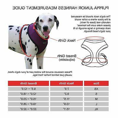 Puppia Authentic Junior Harness A, Medium, Black