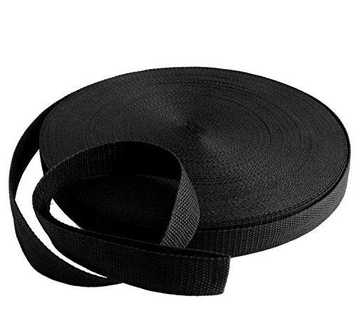 black nylon heavy webbing strap