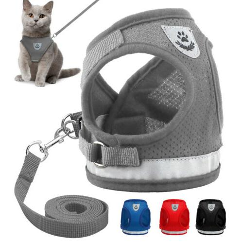 dog cat mesh harness pet puppy harness