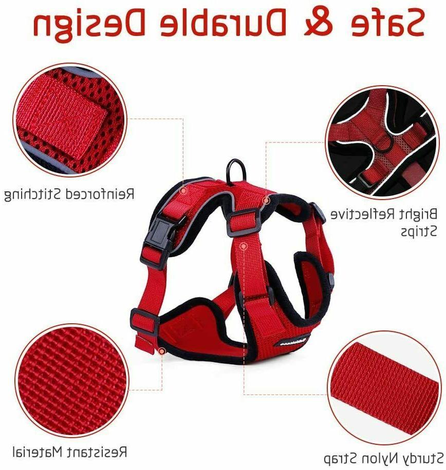 Rabbitgoo Reflective Walking Adjustable 59 In Leash Red