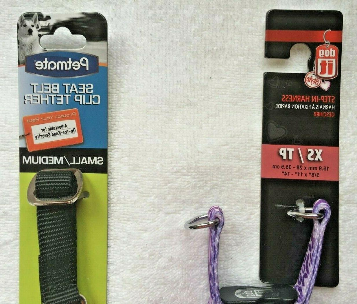 COMBO Dogit Harness/Purple/X-Small Safety Clip Tether