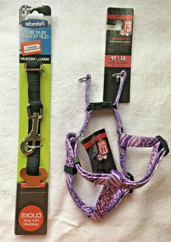 combo dogit adjustable dog harness purple x