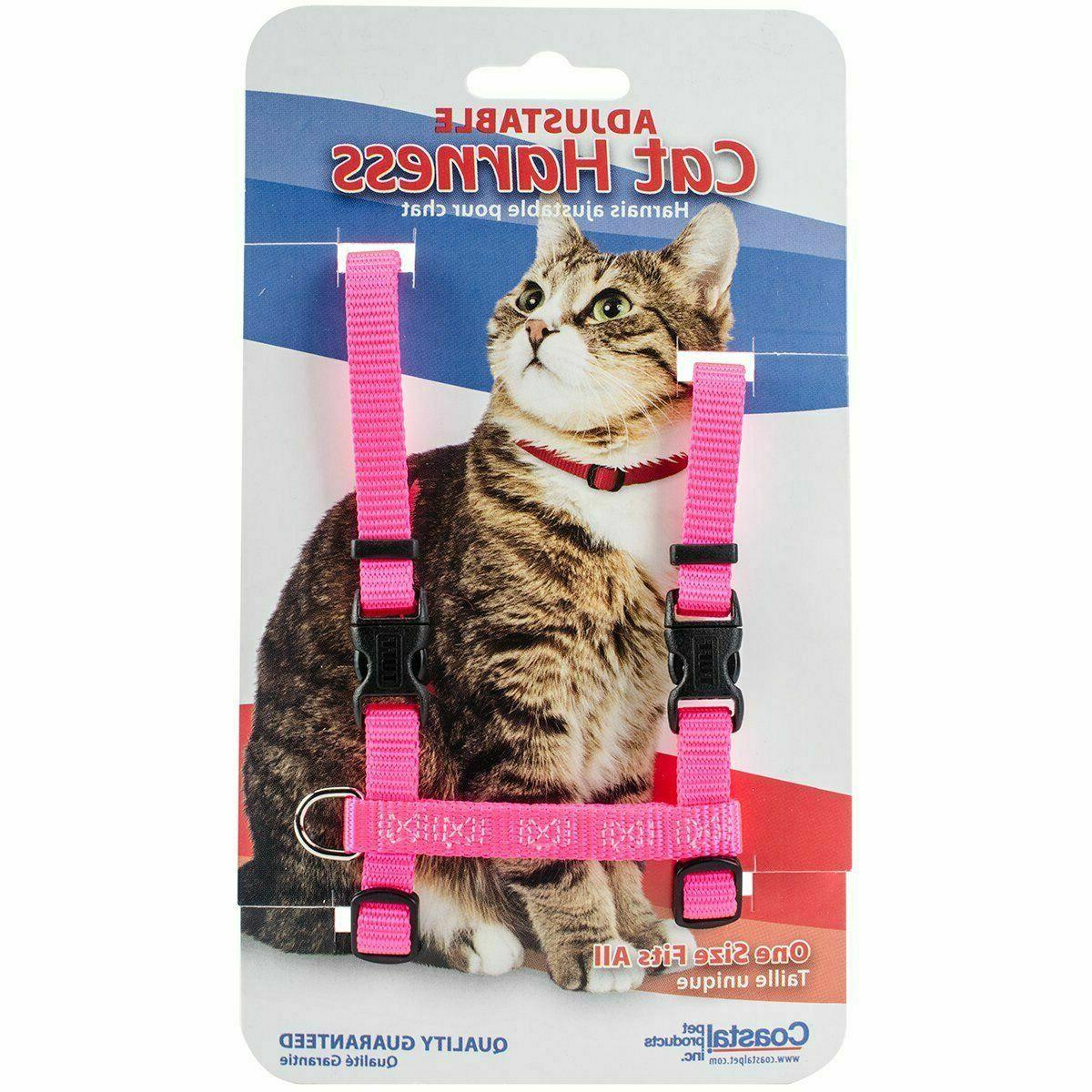 different colors adjustable figure h cat harness