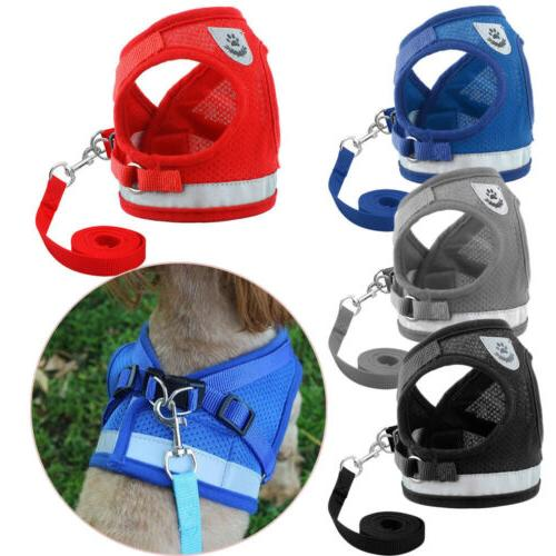 Dog Cat Mesh Pet Puppy Leash Set Strap Vest