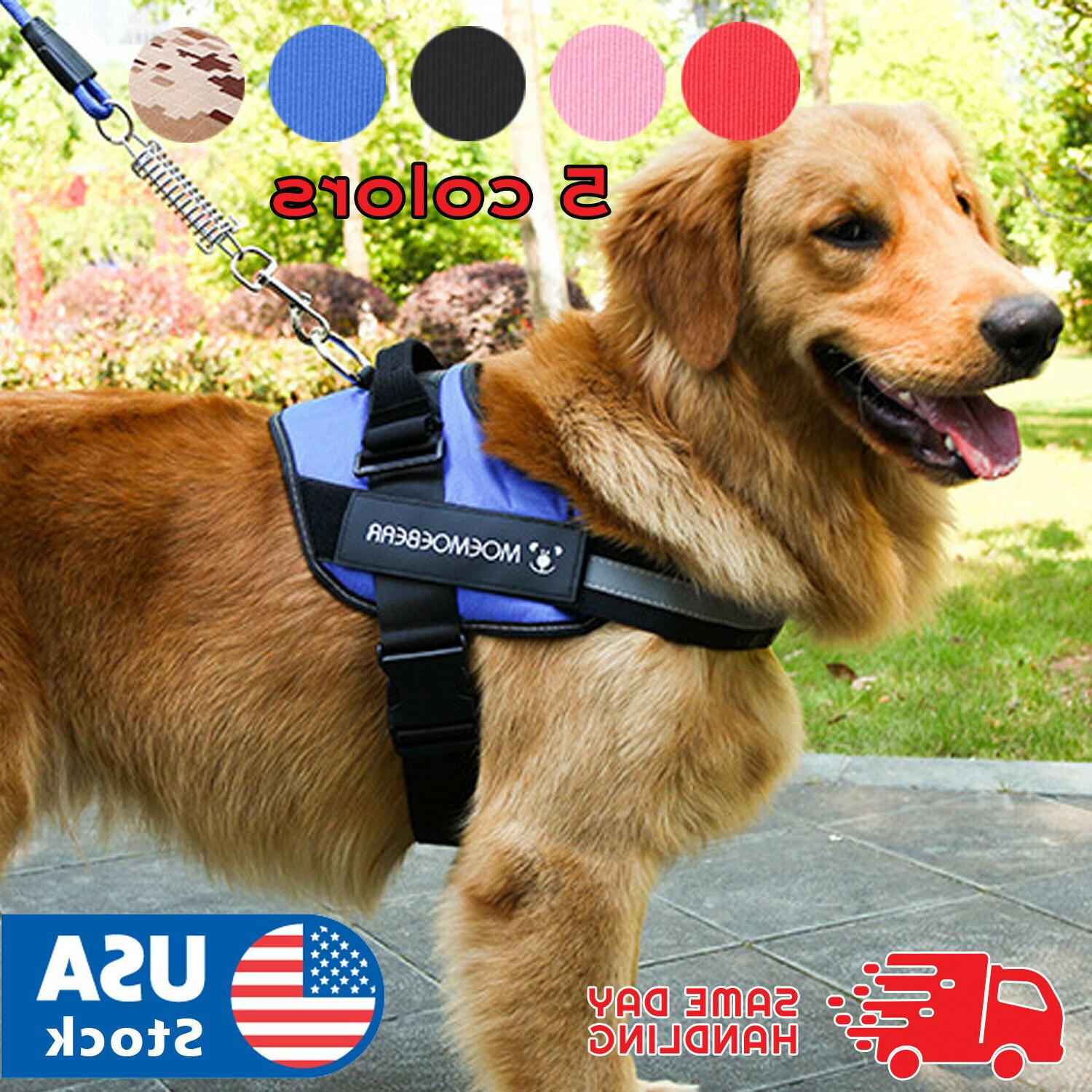 dog harness no pull adjustable soft vest