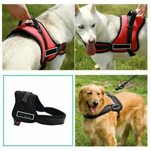 Dog Pet Harness Vest Reflective Control