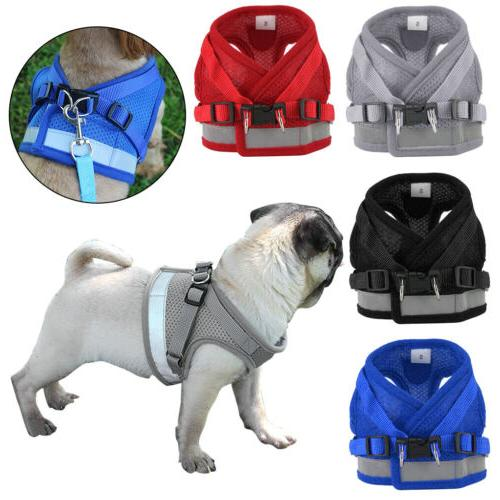 Pet Puppy Harness Breathable Mesh And Leash Set Vest Chest S