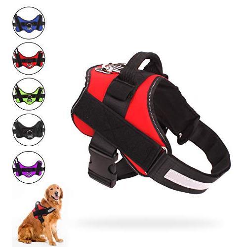 dog harness pull reflective adjustable
