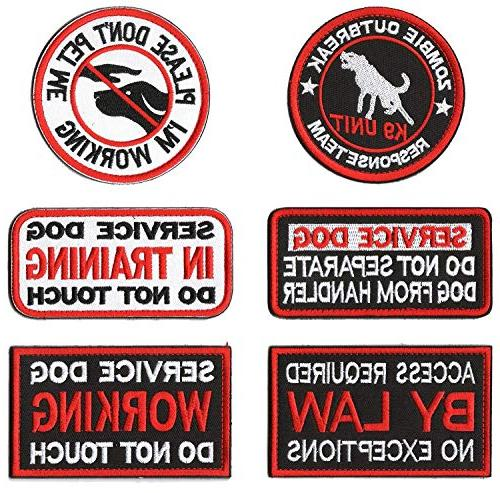 GrayCell Dog Pack Hound Travel Hiking Backpack Saddlebags//Morale Service Dog Patches for Pet Tactical K9 Harness Vest