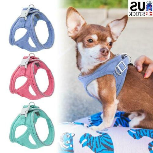dogs harness reflective padded small pet cat