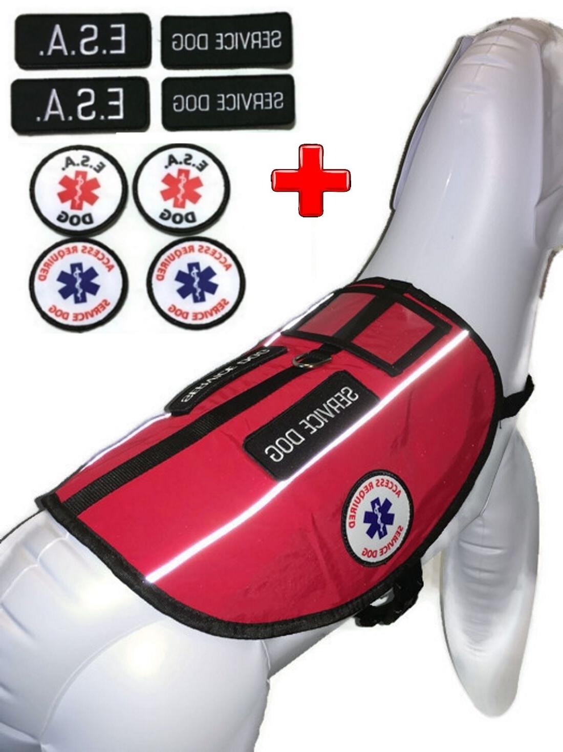 Service Dog Vest Emotional Support Animal ESA Pocket Harness