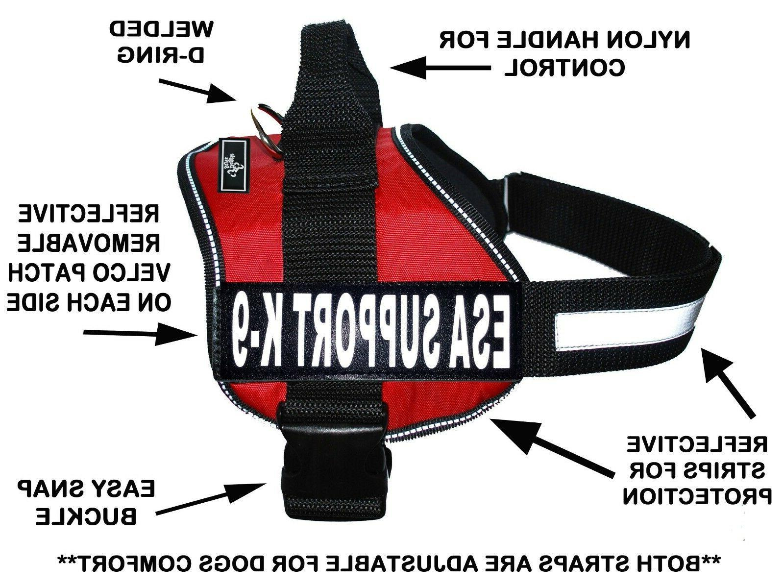 Doggie Stylz THERAPY DOG Harness Vest Nylon 2 Free removable patches All Sizes