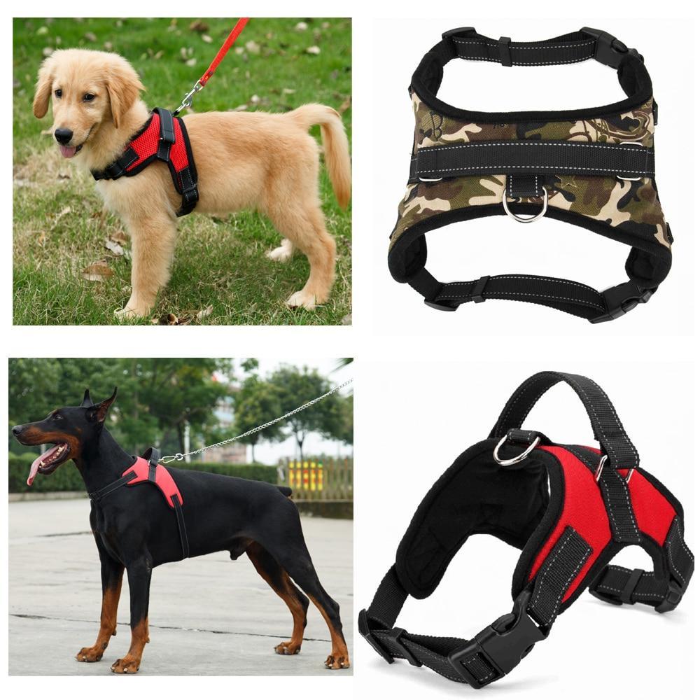 <font><b>Nylon</b></font> <font><b>Heavy</b></font> <font><b>Duty</b></font> Pet Harness Collar Adjustable Padded Extra Medium