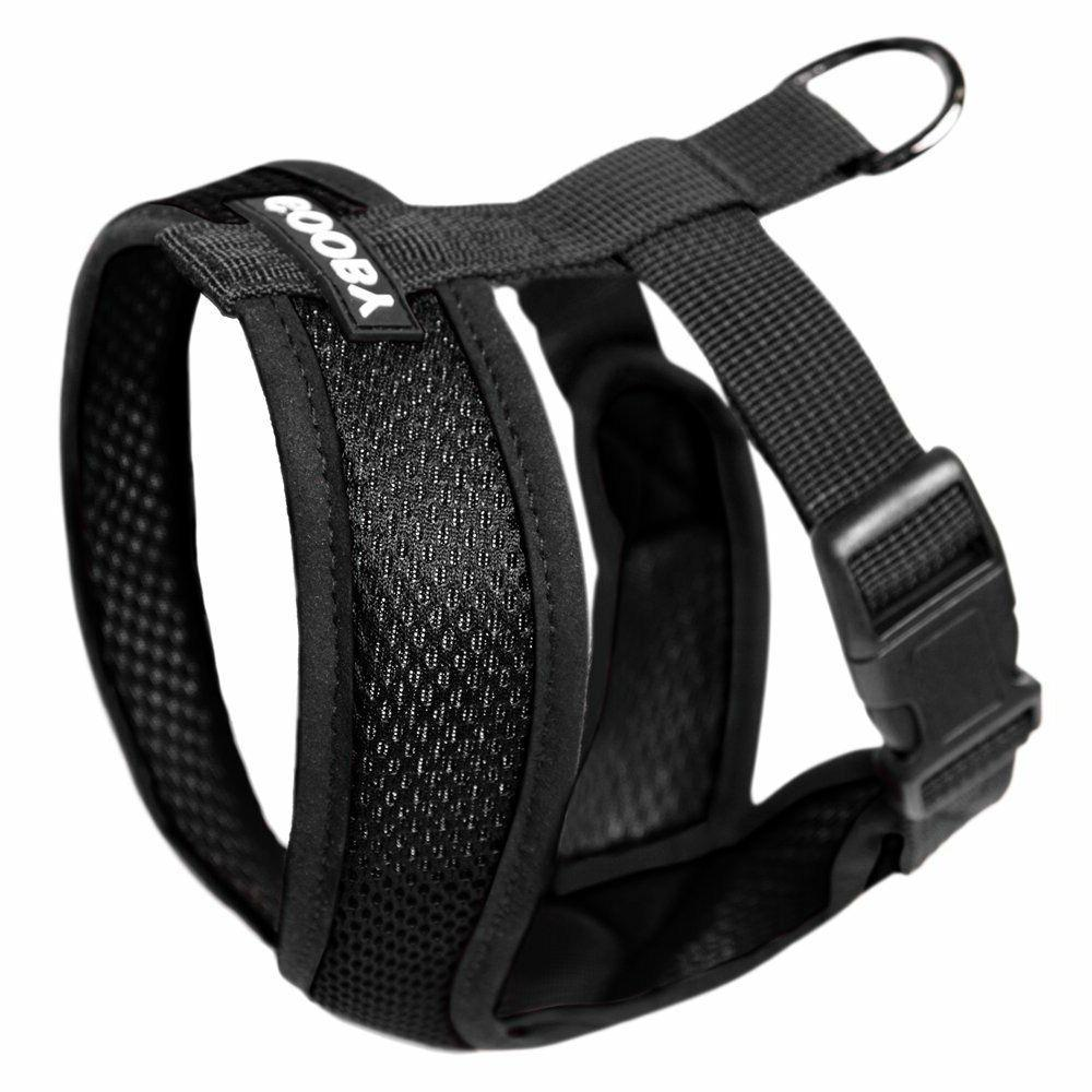 Gooby Fully adjustable Choke Free Comfort X Soft Harness Bla