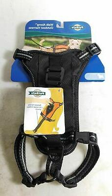 """PetSafe Girth 19""""-25"""" Walk Along Outdoor Harness for Dogs Bl"""