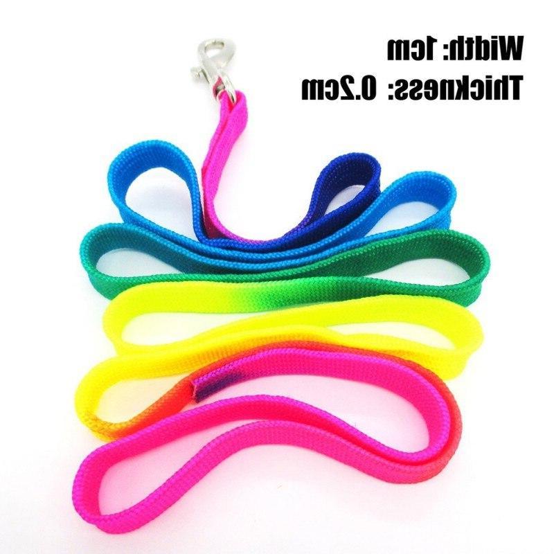 New Pet <font><b>Harnesses</b></font> Leads Rainbow Leash Pu