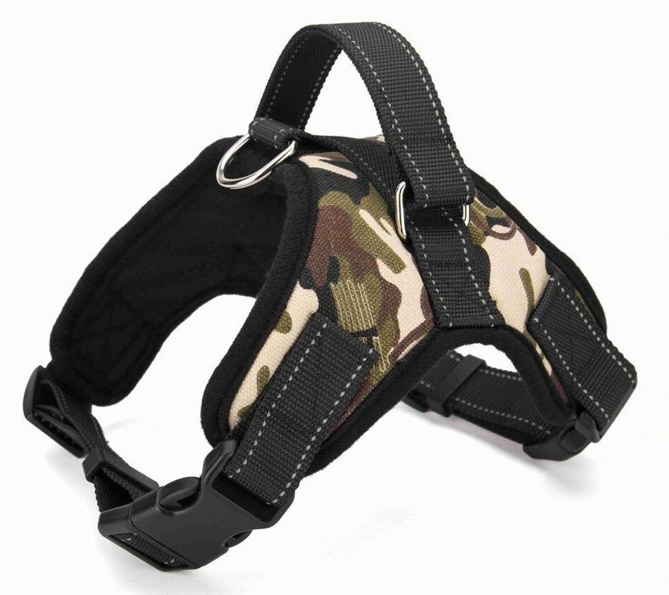 No Adjustable Dog Pet Harness PLUS COLLAPSIBLE BOWL Nylon XL