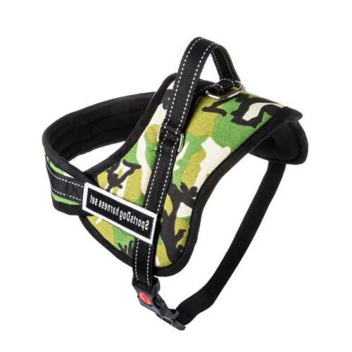 No Adjustable Dog Vest Harness Collar Set