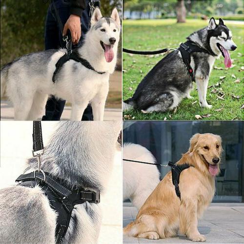 Dog Harness Pull Adjustable Walk Collar Handle