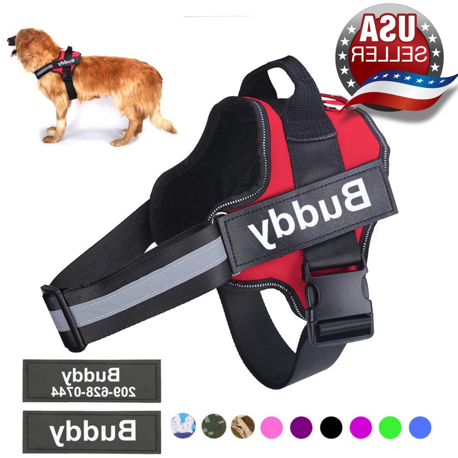 personalized adjustable dog harness reflective breathable