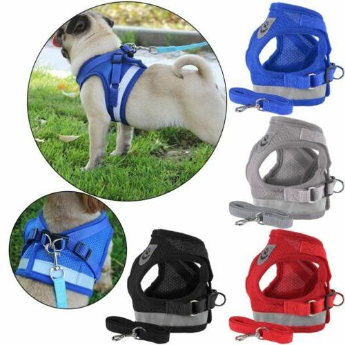 Breathable Small Dog Mesh harness Vest Collar soft chest str
