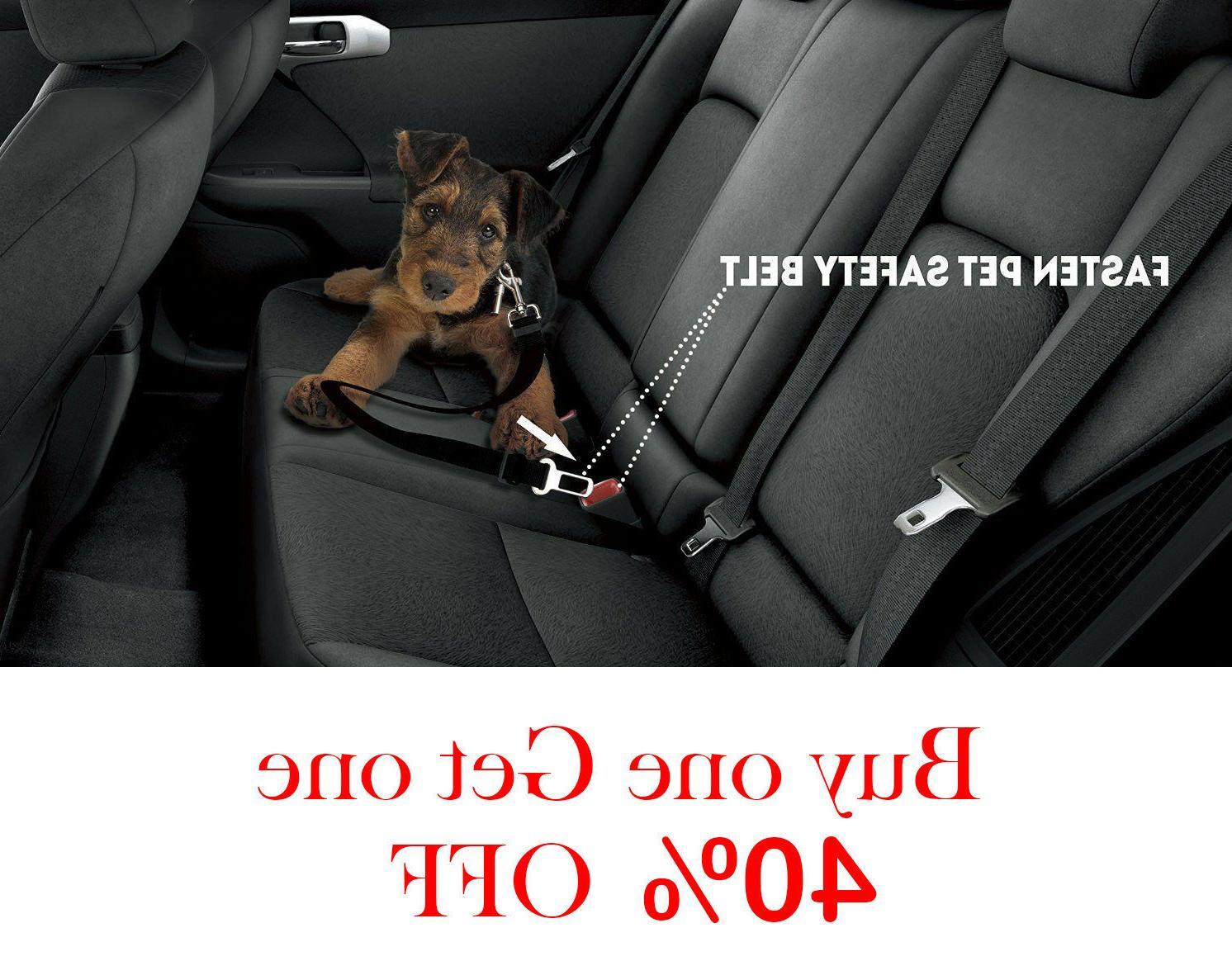 pet seat belt dog safety adjustable clip
