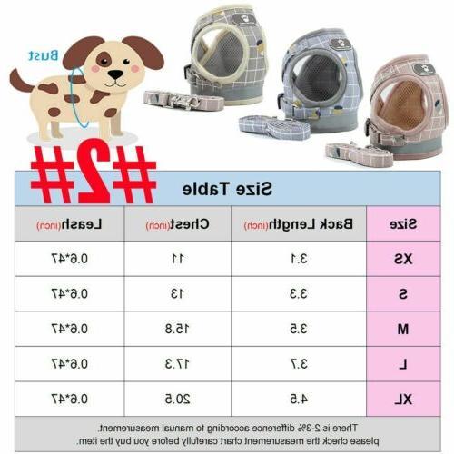 Pet Small Harness Leash Set Breathable Strap XS-XL