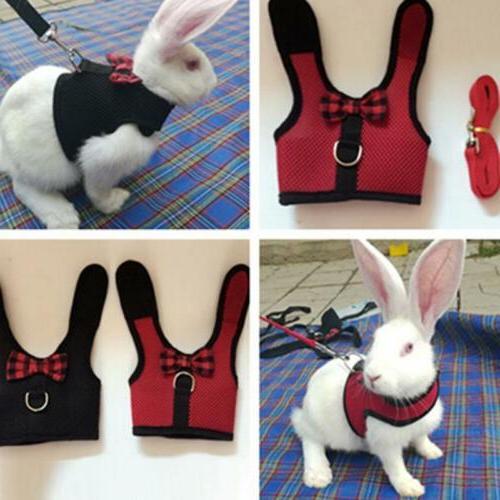 Pet Soft Harness Leash Lead for Hamster Rabbit Bunny