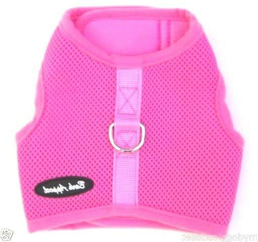 pink dog harness mesh wrap n go