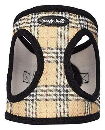 plaid comfort padded pet vest