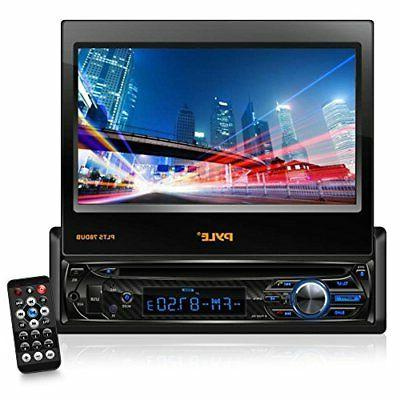 "in-Dash Car Stereo with 7/"" Multi-Color Touchscreen Display Audio Video System with Bluetooth for Wireless Music Streaming /& Hands-Free Calling Single DIN Head Unit Receiver Pyle PLTS78DUB"
