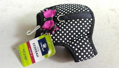 Top Paw® Polka Dot Bow Dog Vest Harness size: X Small